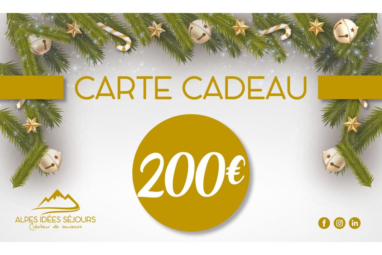 Carte cadeau Alpes idées Séjours 200€