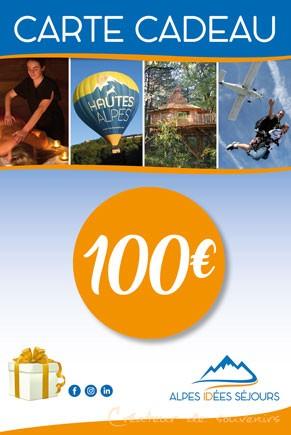 Carte cadeau Alpes idées Séjours 100€